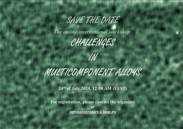 CHALLENGES IN MULTICOMPONENT ALLOYS